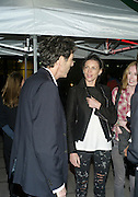 RALPH RUGOFF; LIBERTY ROSS,  George Condo: Mental States. Hayward Gallery. Southbank Rd. London. 17 October 2011. <br /> <br />  , -DO NOT ARCHIVE-© Copyright Photograph by Dafydd Jones. 248 Clapham Rd. London SW9 0PZ. Tel 0207 820 0771. www.dafjones.com.