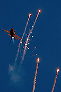 IAF F16I Fighter jet and flares