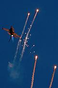 IAF F16I Fighter jet and flares