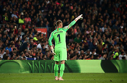 October 20, 2018 - Barcelona, Catalonia, Spain - Mar Andre Ter Stegen during the match between FC Barcelona and Sevilla CF, corresponding to the week 9 of the Liga Santander, played at the Camp Nou, on 20th October 2018, in Barcelona, Spain. (Credit Image: © Joan Valls/NurPhoto via ZUMA Press)