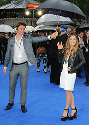 © Licensed to London News Pictures. 12/05/2014, UK. Ian Molly Smitten-Downes, X-Men: Days Of Future Past - UK Film Premiere, Odeon Leicester Square, London UK, 12 May 2014. Photo credit : Richard Goldschmidt/Piqtured/LNP