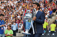 Champions League Trophy  during the Champions League Final between Juventus FC and FC Barcelona at the Olympiastadion, Berlin, Germany on 6 June 2015. Photo by Phil Duncan.