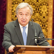 NLD/Den Haag/20171221 - Koning bij sluitingsceremonie Joegoslavie tribunaal, António Guterres