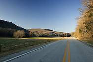 Country rural road in the mountains of Arkansas