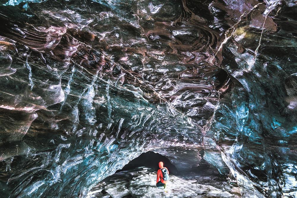 Ice Cave in Vatnajˆkull Glacier, Iceland
