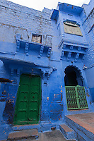 """Jodhpur """"the blue city"""" is the second largest city in  Rajasthan after Jaipur.  The town was formerly the capital of the kingdom known as Marwar. Today Jodhpur is a popular tourist destination, featuring many palaces, forts and temples, set in the stark landscape of the Thar desert.  Jodhpur is often referred to as the """"Blue City"""" due to the vivid blue painted houses around the Mehrangarh Fort."""