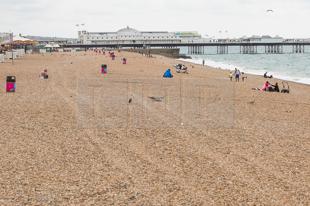 © Hugo Michiels Photography 03/09/2017. Brighton, UK. A almost empty beach in Brighton and Hove at the end of the weekend as the weather has gone colder and grey. Photo credit: Hugo Michiels Photography