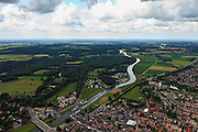 Nederland, Overijssel, Ommen, 30-06-2011;.De Overijsselsche Vecht met beneden in beeld Ommen..luchtfoto (toeslag), aerial photo (additional fee required).copyright foto/photo Siebe Swart