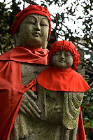 """""""Jizo"""" images and statues are popular in Japan as Bodhisattva who console beings awaiting rebirth and travelers. As such they are often found along roadsides, paths or even street corners."""