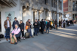 © Licensed to London News Pictures. 17/09/2019. London, UK. People line up outside The Supreme Court. Today the court will start hearing appeals against Scottish and English courts decisions on the government's proroguing of Parliament. Photo credit: Peter Macdiarmid/LNP