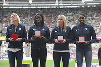 Athletics - 2017 IAAF London World Athletics Championships - Day One<br /> <br /> Medal Ceremonies for rehoming of medals from positive drug testing<br /> <br /> Luvo Manyonga (South Africa), at the London Stadiuim.<br /> <br /> COLORSPORT/ANDREW COWIE