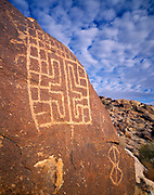 Great Basin Rectilinear Abstract Style petroglyph, Grapevine Canyon, Newberry Mountains, Lake Mead National Recreation Area, Nevada.