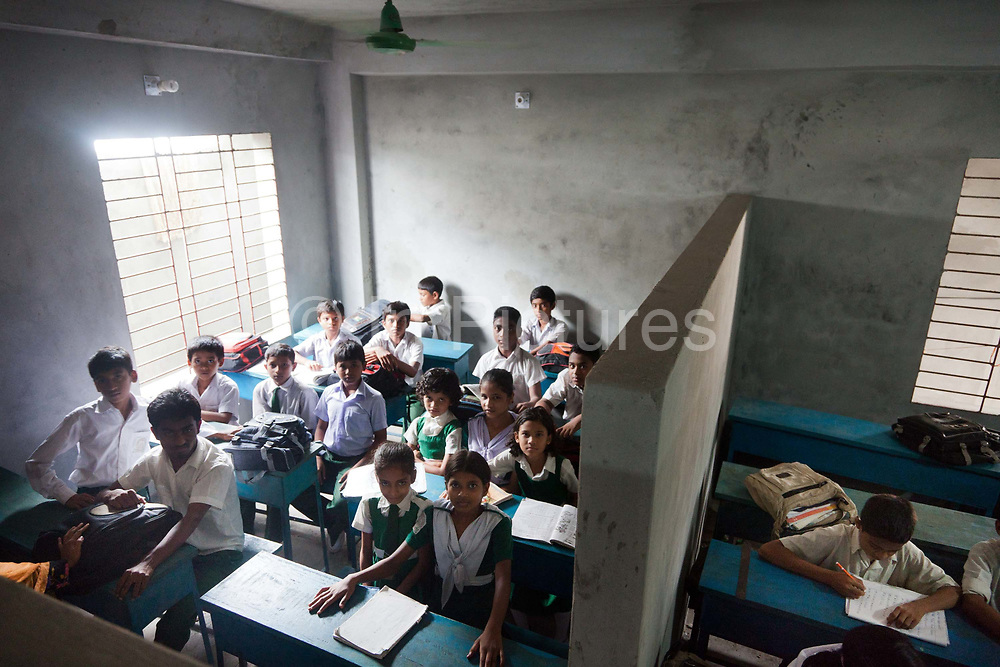 Dhaka, Bangladesh. A school class with integrated able bodied and disabled children.The Stars Foundation visiting CSID. Centre for Services and Information on Disability (CSID) is a charity working for integrating disabled children into mainstream society.