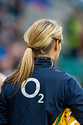 Twickenham, England, 7th March 2020, Blond Pony Tail and the O2 LogoGuinness Six Nations, International Rugby, England vs Wales, RFU Stadium, United Kingdom, [Mandatory Credit; Peter SPURRIER/Intersport Images]
