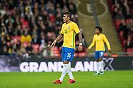 Brazil (15) Paulinho during the International Friendly match between England and Brazil at Wembley Stadium, London, England on 14 November 2017. Photo by Sebastian Frej.