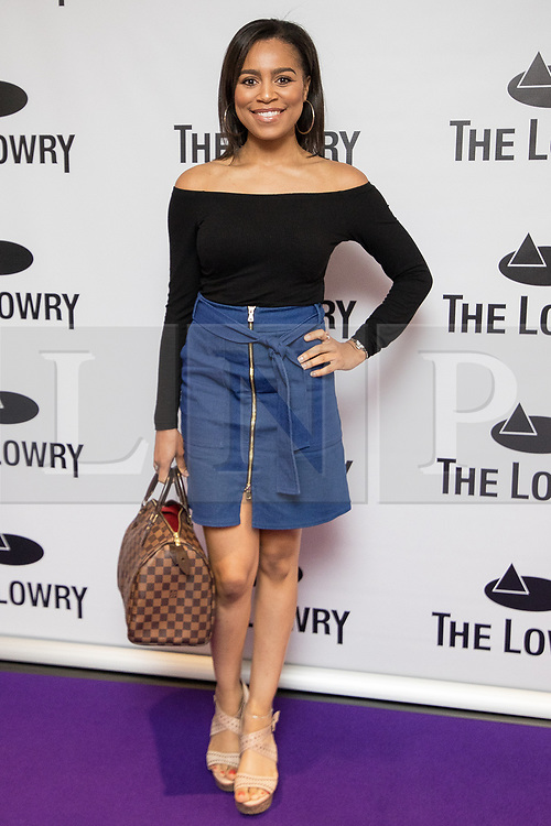 © Licensed to London News Pictures . 30/08/2017 . Salford , UK . Tisha Merry . Purple carpet photos of celebrities, actors and invited guests arriving for the press night of the musical comedy , Addams Family , at the Lowry Theatre . Photo credit : Joel Goodman/LNP