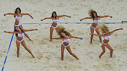 10-07-2011 VOLLEYBAL: FIVB WORLD TOUR BEACHVOLLEYBAL: GSTAAD<br /> Seat showgirls danseressen<br /> ©2011-www.FotoHoogendoorn.nl / Peter Schalk