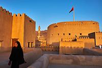 Sultanat d'Oman, gouvernorat de Ad-Dakhiliyah, Nizwa, le fort du XVIIe siècle // Sultanate of Oman, Ad-Dakhiliyah Region, Nizwa, the 17 century fort
