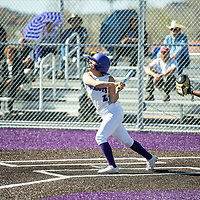 Shelby Cordova hits a grand slam for the Lady Patriots making the score 16-7 in the bottom of the fourth inning, Thursday, April 18 against Kirtland Central in Gallup.