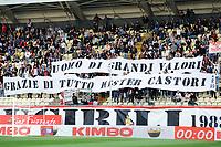 Striscione tifosi Carpi per vecchio allenatore fABRIZIO cASTORI . Banner for the OLD Carpi trainer <br /> Modena 03-10-2015 Stadio Braglia Football Calcio Serie A 2015/2016 Carpi - Torino Foto Andrea Staccioli / Insidefoto