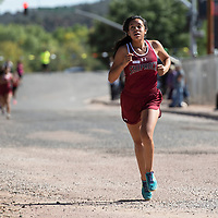 Sophomore Elena Hardy from Shiprock finished in second  place at the cross country varsity girls Heartbreak Classic with a time of 25:10 at Navajo Pine High School, Saturday, Sept. 29, 2018 in Navajo.