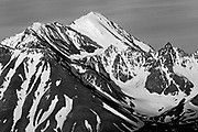 St. Elias Mountains looking at Kluane National Park at sunrise<br /> from Haines Junction<br />Yukon<br />Canada<br />from Haines Junction<br />Yukon<br />Canada