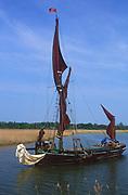 AREJYE Sailing barge Cygnet River Alde Snape Suffolk England