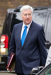 © Licensed to London News Pictures. 21/02/2017. London, UK. Defence Secretary Michael Fallon arriving in Downing Street to attend a Cabinet meeting this morning. Photo credit : Tom Nicholson/LNP