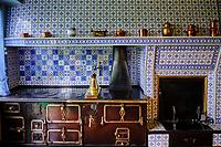 France, Eure (27), Giverny, maison du peintre Claude Monet, la cuisine // France, Eure (27), Giverny, house of the painter Claude Monet