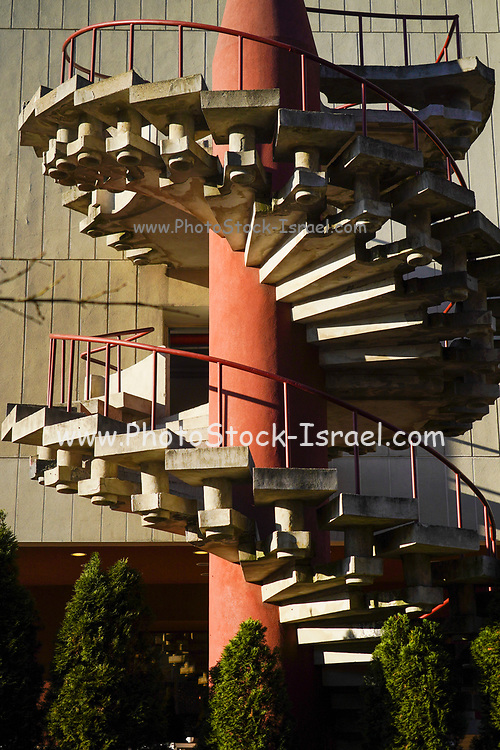 Spiral staircase. Photographed in Bucharest, Romania.