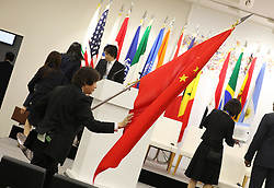 """Illustration - Side event organized by the Japanese Prime Minister, on the theme """"Promoting the place of women at work"""" at the Intex Osaka congress center at the G20 summit in Osaka, Japan, on June 29, 2019. Photo by Dominque Jacovides/Pool/ABACAPRESS.COM"""