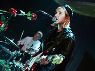 Laura Lee of German pop-punk duo Gurr at Kulturclub schon schön in Mainz
