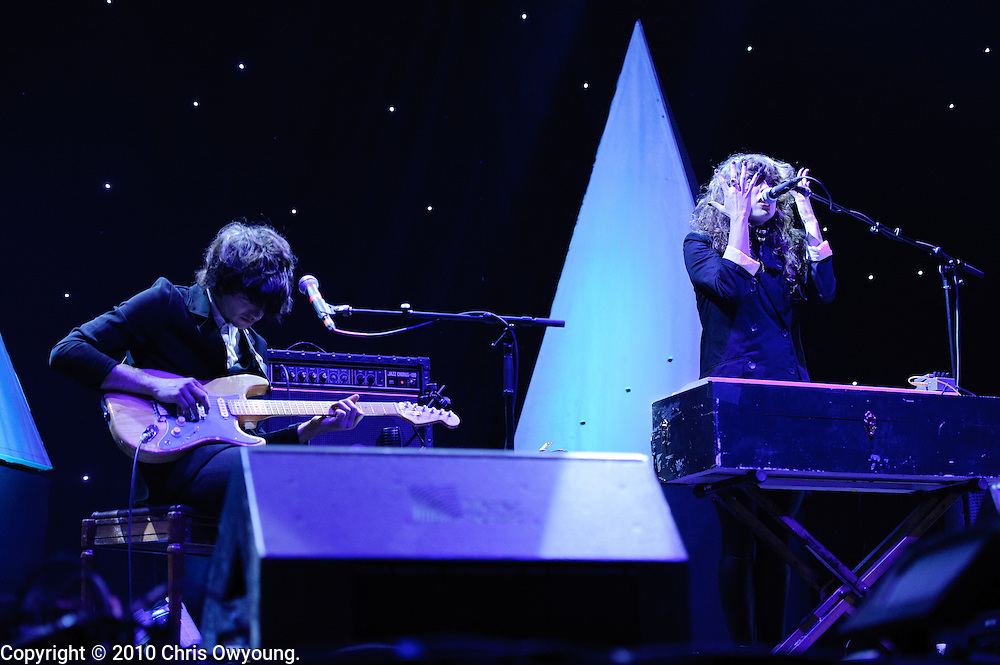 Beach House performs at Radio City Music Hall on September 17, 2010 in New York City.