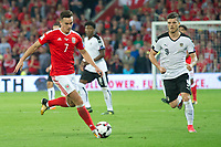 Football - 2017 / 2018 _Wales v Austria_FIFA World Cup Qualifier 2018<br /> <br /> Tom Lawrence of Wales attacks --- at Cardiff City Stadium.<br /> <br /> COLORSPORT/WINSTON BYNORTH