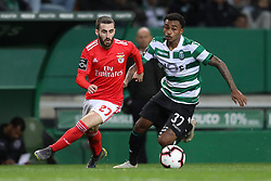 February 3, 2019 - Lisbon, PORTUGAL, Portugal - Rafa Silva of SL Benfica (L) vies for the ball with Wendel of Sporting CP (R) during the League NOS 2018/19 footballl match between Sporting CP vs SL Benfica. (Credit Image: © David Martins/SOPA Images via ZUMA Wire)