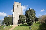 Parish church of Saint Mary, Clopton, Suffolk, England, UK