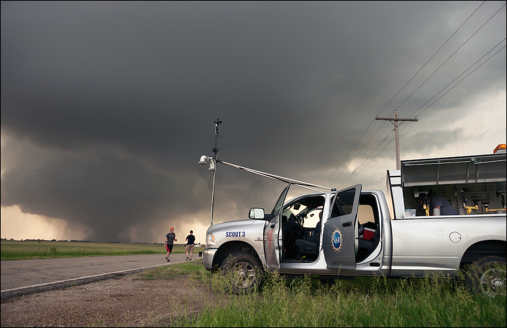 Scout 3 with the Center for Severe Weather Research with Pods ready to deploy in the Solomon, Kansas tornado.