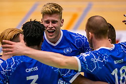 Bennie Tuinstra of Lycurgus in action during the semi cupfinal between Active Living Orion vs. Amysoft Lycurgus on April 03, 2021 in Saza Topsportshall Doetinchem