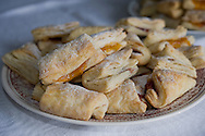 Homemade salenjaci (pastries made with lard and filled with jam), Zagreb, Croatia