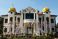 The Independence Memorial was set up in 1985. It is housed in the former Melaka Club,a British colonial building built in 1912. The memorial displays memorabilia and records related to the early history of the Malay Sultanate and the development of modern Malaysia. It also symbolises the indomitable spirit and courage of local Malays and other ethnic groups of Malaysia in their struggle for independence. Among the permanent exhibits here are historical pictures, manuscripts, videotapes, films and slides of events leading to the Declaration of Independence at the nearby Warrior's Field on Aug 31, 1957.Malaysia, was formerly known as Malaya.