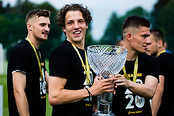 Kai Cipot of NS Mura with trophy after winning final match of Slovenian footaball cup for season 2019/202 between team NK Nafta 1903 and NS Mura, Bro pri Kranju on 24 June 2020, Kranj, Slovenia. Photo by Grega Valancic / Sportida