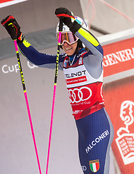 Winner Marta Bassino (ITA) reacts during 2nd Run of Ladies' Giant Slalom at 57th Golden Fox event at Audi FIS Ski World Cup 2020/21, on January 17, 2021 in Podkoren, Kranjska Gora, Slovenia. Photo by Vid Ponikvar / Sportida