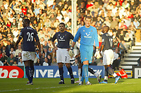 30/10/2004<br />FA Barclays Premiership - Fulham v Tottenham Hotspur - Craven Cottage, London<br />Tottenham Hotspur's dejected defence line of (L to R) Ledley King, Nourredine Naybet, goalkeeper Paul Robinson and Noe Pamarot.<br />Photo:Jed Leicester/Back Page Images