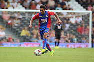 Crystal Palace player, Keshi Anderson dribbling during the Pre-Season Friendly match between Fulham and Crystal Palace at Craven Cottage, London, England on 30 July 2016. Photo by Matthew Redman.