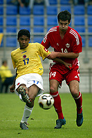 Fotball <br /> FIFA World Youth Championships 2005<br /> Nederland / Holland<br /> Foto: ProShots/Digitalsport<br /> <br /> canada - colombia, tilburg, 15-06-2005<br /> <br /> david edgar en cristian marrugo