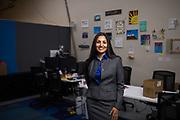 Ketos CEO Meena Sankaran poses for a portrait at Ketos, Inc. in San Jose, California, on February 11, 2019. (Stan Olszewski for Silicon Valley Business Journal)