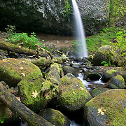 Upper Horsetail, Ponytail, Falls, Oregon, Multnomah County, Columbia River Gorge,