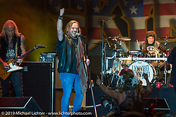 Lynyrd Skynyrd rocks a huge crowd at Westworld on Thursday of Arizona Bike Week 2014. USA. April 4, 2014.  Photography ©2014 Michael Lichter.