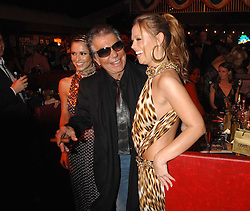 ROBERTO CAVALLI and KIMBERLEY WALSH at the London Red Cross Ball themed 'Honky Tonk Blues' held at 99 Upper Ground, London SE1 on 21st November 2007.<br />