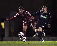 Photo: Olly Greenwood/Sportsbeat Images.<br />Southend United v Swindon Town. Coca Cola League 1. 08/12/2007. Southend's Nickey Bailey and Swindon's Michael Pook